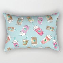 Coffee Crazy Toss in Blueberry Rectangular Pillow