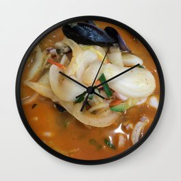 Spicy Seafood Noodle Soup Wall Clock