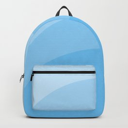 Four Shades of Tuquoise Curved Backpack