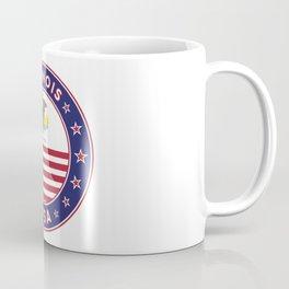Illinois, Illinois t-shirt, Illinois sticker, circle, Illinois flag, white bg Coffee Mug