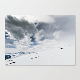 The White Open Canvas Print