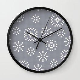 Jubilation Winter plaid grey Wall Clock