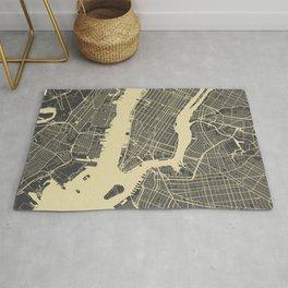 New York #1 map yellow Rug