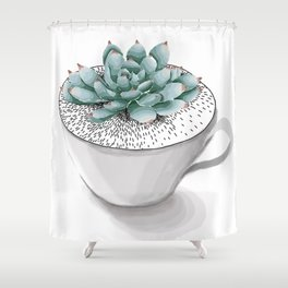 Sexy Succulent Shower Curtain