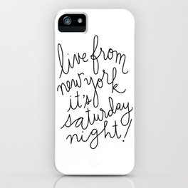 Live From New York iPhone Case