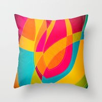 magnolia Throw Pillows featuring magnolia by Julia Tomova