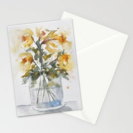 Essence of Daffodil in Watercolor Stationery Cards