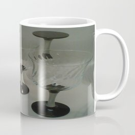 Silver & Black Stemmed Parfait Glasses Coffee Mug