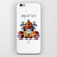 aquarius iPhone & iPod Skins featuring AQUARIUS by Angelo Cerantola