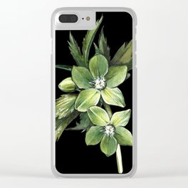 Hellebore Spring Clear iPhone Case