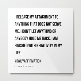 32   | Positive Affirmations For Women | 191031 Metal Print