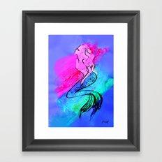 Midnight Mermaid Framed Art Print