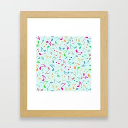 Music Colorful Notes Framed Art Print
