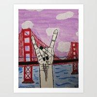 Rock On Golden Gate Art Print