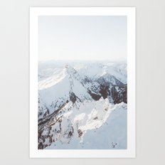 Snowy Mountains in Washington | Pt. 2 Art Print