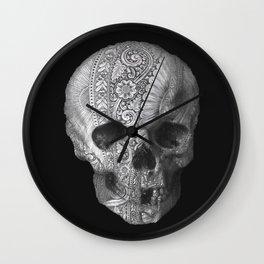 Metal Skull Wall Clock