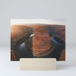 horseshoe bend sunset Mini Art Print