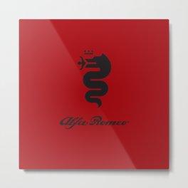 Alfa Romeo black Metal Print