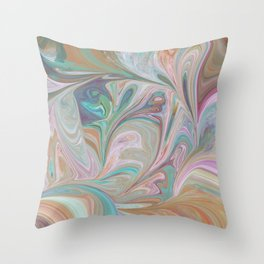 Swirling Pastels Throw Pillow