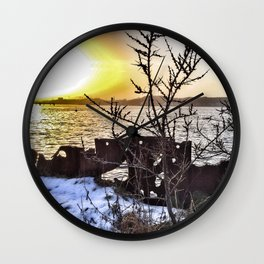 Wave or Particle - Welle oder Teilchen Wall Clock