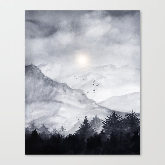 Cross Mountains Canvas Print