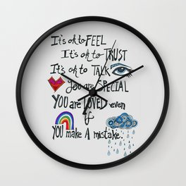 Family Motto Wall Clock