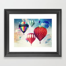 Dreaming of Hot Air Balloons Framed Art Print