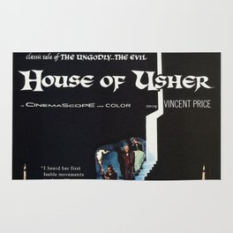 Vintage Classic Movie Posters, House of Ushe Rug