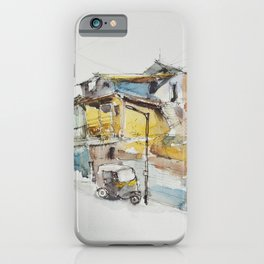 Rickshaw at the lamppost  iPhone Case