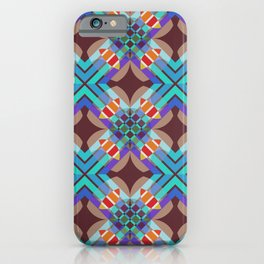 Mabon - Colorful Abstract Art Pattern iPhone Case