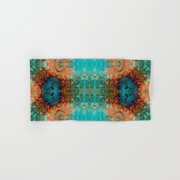 Distressed Southwestern Inspired Turquoise Pattern Design Hand & Bath Towel