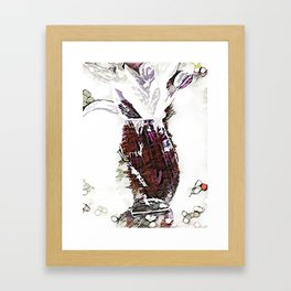 Champaign And Flowers Framed Art Print