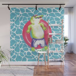 pool gator Wall Mural