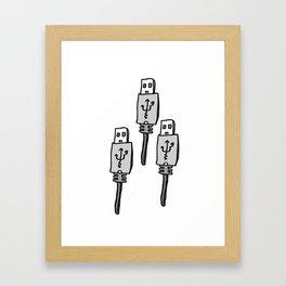 USB 3 Framed Art Print