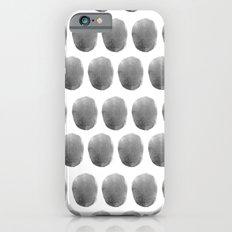 Watercolour polkadot black Slim Case iPhone 6s