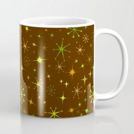 Atomic Starry Night in Retro Brown + Groovy Green Coffee Mug