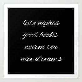 Inverted Nights Books Tea Dreams Art Print