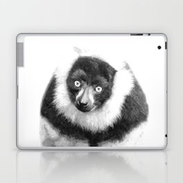 Black and white lemur animal portrait Laptop & iPad Skin