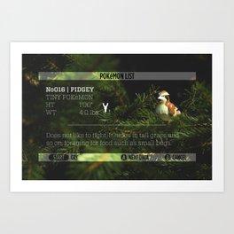 PIDGEY's data was added to the POKéDEX Art Print