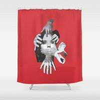 mad Shower Curtains featuring Mad by fabiotir