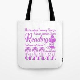 Reading Grandma Tote Bag