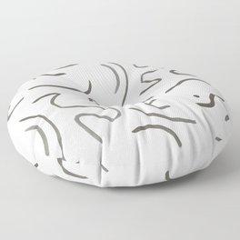 Stroke Abstract Floor Pillow