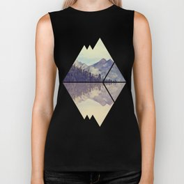 Mountain Reflection Biker Tank