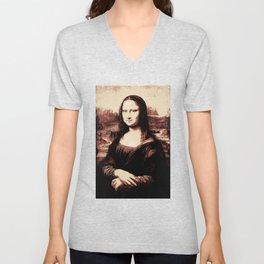 Mona Lisa Vintage Unisex V-Neck