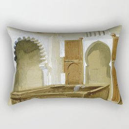 Mariano Fortuny - Our House In Tetouan - Digital Remastered Edition Rectangular Pillow