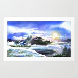 Cold Morning Art Print