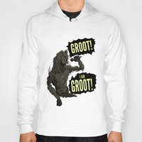 groot Hoodies featuring Groot! I am Groot! by mstfaCmly