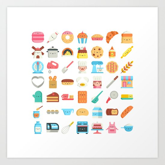 CUTE BAKERY PATTERN (CUTE CHEF BAKER) by misomiso