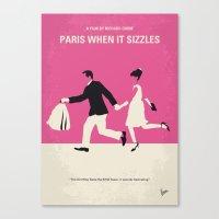 No785 My Paris When it Sizzles minimal movie poster Canvas Print