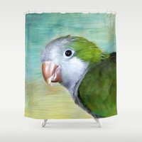 parrot Shower Curtains featuring Parrot by ThePhotoGuyDarren